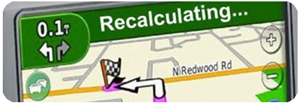 Recalculating GPS