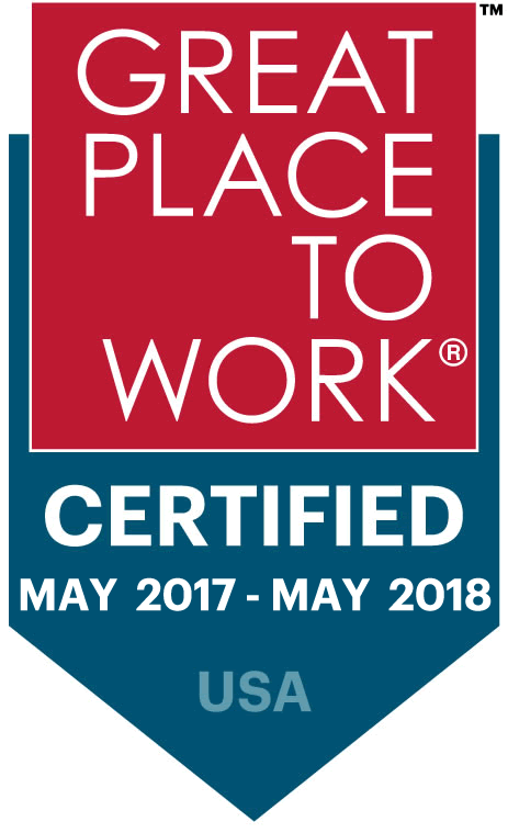 Great Place to Work Badge 2017-2018