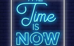 time-is-now-neon-signs-style-text-vector_118419-997