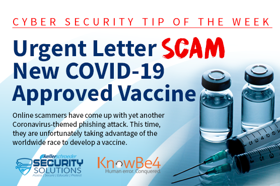 Cybersecurity Scam of the Week COVID-19 Vaccine Phishing Scam
