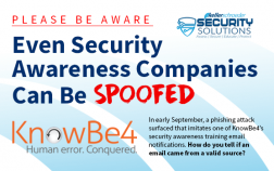 Cybersecurity Scam of the Week KnowBe4 Training Notification Phishing Scam